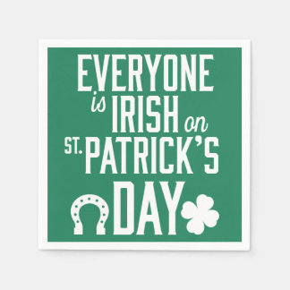 Everyone Is Irish On St Patricks Day Napkins Disposable Serviettes