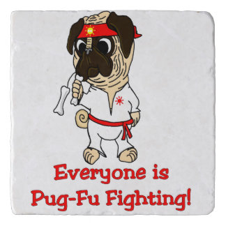 Everyone Is Pug-Fu Fighting! Trivet