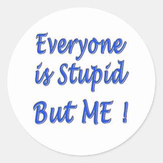 Everyone is Stupid Classic Round Sticker