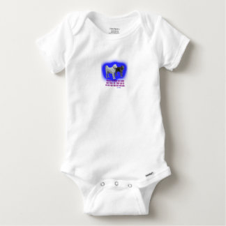 Everyone is taught that angels have wings. baby onesie