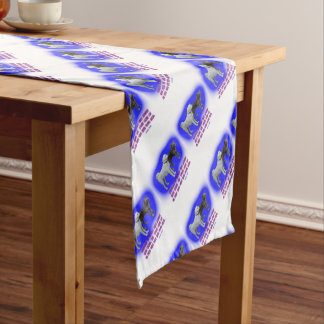 Everyone is taught that angels have wings. short table runner
