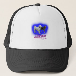 Everyone is taught that angels have wings. trucker hat