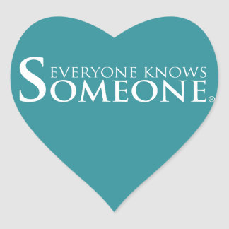 Everyone Knows Someone Products Heart Sticker