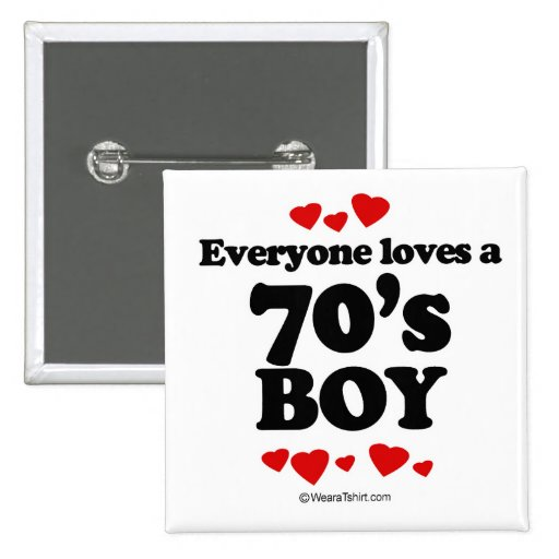 Everyone loves a 70's boy pinback button