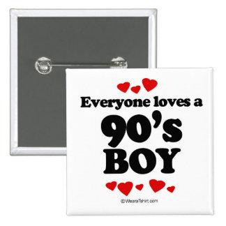 Everyone loves a 90's boy pinback button