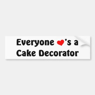 Everyone loves a cake decorator car bumper sticker