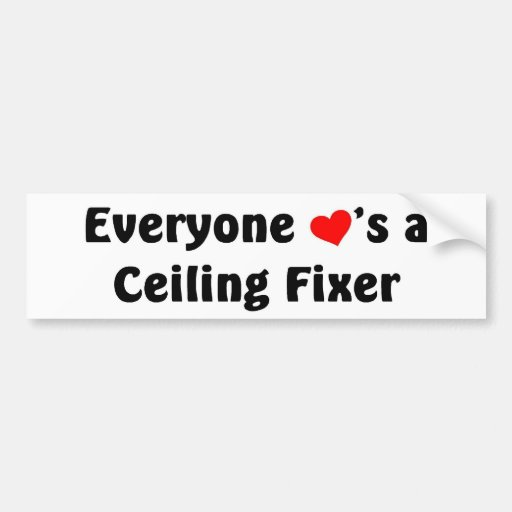 Everyone loves a Ceiling Fixer Bumper Stickers