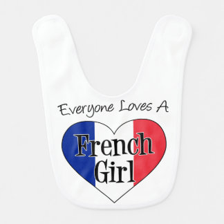 Everyone Loves A French Girl baby bib