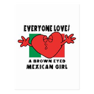 Everyone Loves A Mexican Girl Postcard