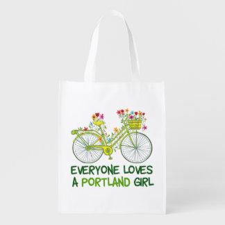 Everyone Loves a Portland Girl Reusable Grocery Bag