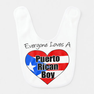 Everyone Loves A Puerto Rican Boy baby bib