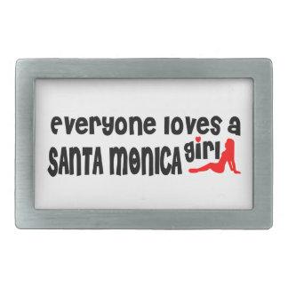 Everyone loves a Santa Monica girl Rectangular Belt Buckle