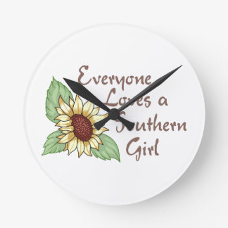 EVERYONE LOVES A SOUTHERN GIRL ROUND CLOCKS