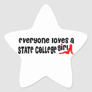 Everyone loves a State College girl Star Sticker