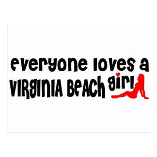 Everyone loves a Virginia Beach girl Postcard