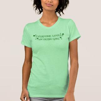 Everyone Loves An Irish Girl Tshirts