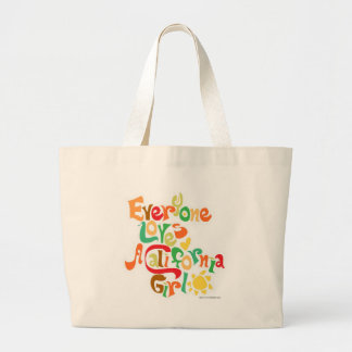 Everyone Loves California Girls Large Tote Bag