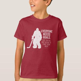 Everyone Needs Goals (Hockey) T-Shirt