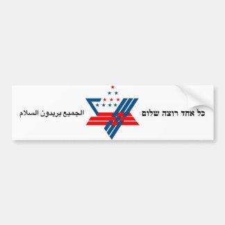 everyone wants peace bumper sticker