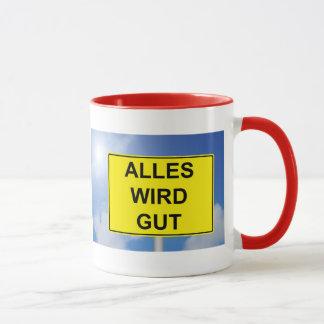 Everything becomes property sign with sky mug