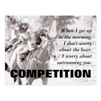 Everything between us becomes a competition postcard
