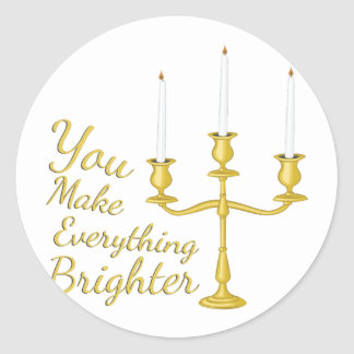 Everything Brighter Round Sticker