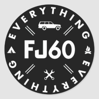 Everything FJ60 Logo Sticker - Black