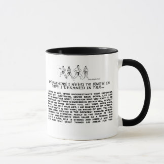 EVERYTHING I NEED TO KNOW -TKD MUG