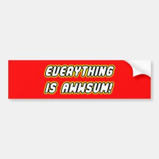 Everything is awwsum bumper sticker