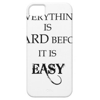 everything is hard before it is easy goethe iPhone 5 cover