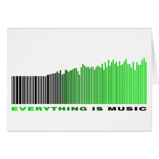 Everything is music barcode green equalizer text card