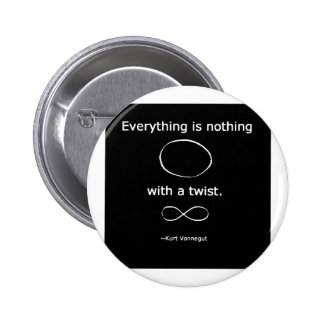 Everything is Nothing with a twist solidchainwear 6 Cm Round Badge