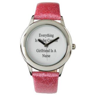 Everything Is Under Control My Girlfriend Is A Nur Wrist Watches