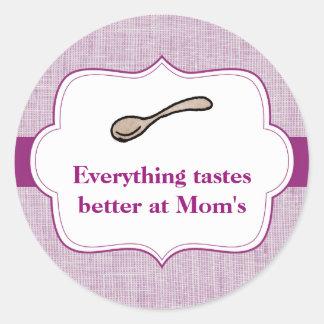 Everything Tastes Better Round Sticker