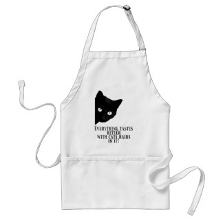 Everything tastes better with cat hairs in it standard apron