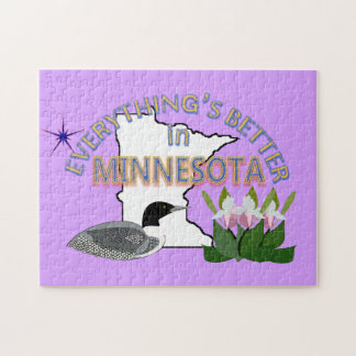 Everything's Better in Minnesota Puzzle