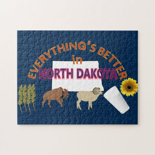 Everything's Better in North Dakota Puzzle