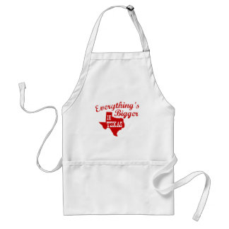 Everything's bigger in Texas State Shape Apron