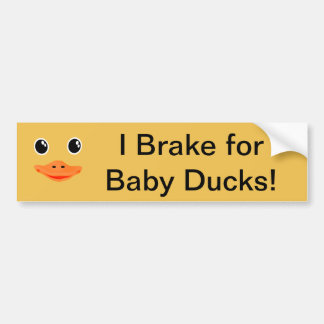 Everything's Ducky Baby Duck Bumper Sticker