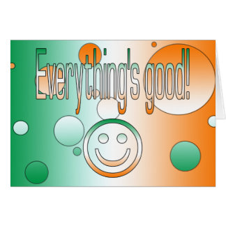 Everything's Good! Ireland Flag Colors Pop Art Note Card