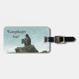 """""""EVERYTHING'S IRIE, MON"""", CARIBBEAN SCENE LUGGAGE TAG"""