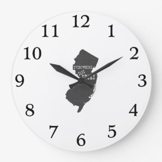 Everywhere Else Sucks New Jersey Large Clock