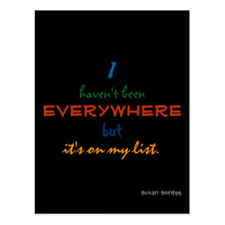 everywhere - susan sontag postcard