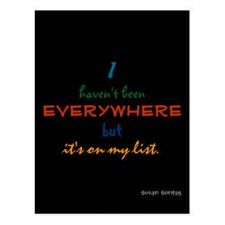 everywhere - susan sontag postcard