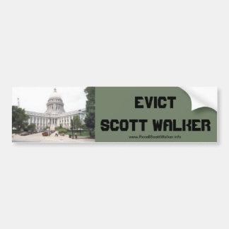 Evict Scott  Walker Bumper Sticker