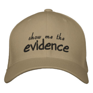 evidence hat embroidered hats