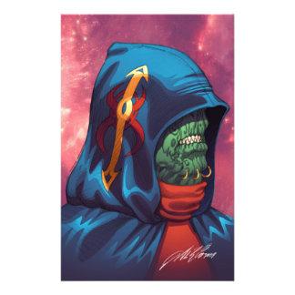 Evil Alien Diplomat Art by Al Rio 14 Cm X 21.5 Cm Flyer