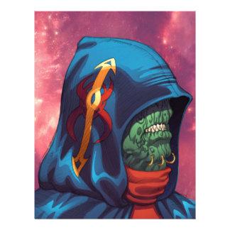 Evil Alien Diplomat Art by Al Rio 21.5 Cm X 28 Cm Flyer