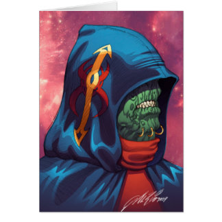 Evil Alien Diplomat Art by Al Rio Cards