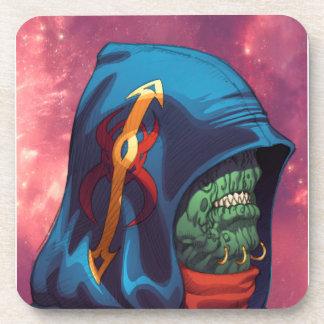 Evil Alien Diplomat Art by Al Rio Beverage Coasters